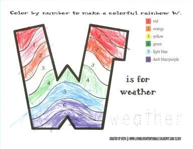 W rainbow