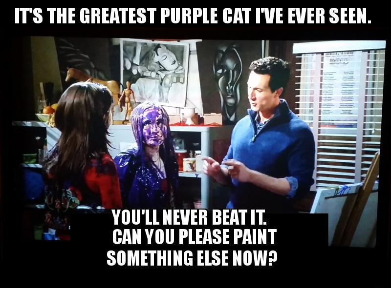 rileys purple cat